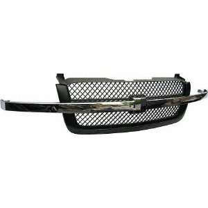 03 05 CHEVY CHEVROLET SILVERADO PICKUP GRILLE TRUCK, Assy