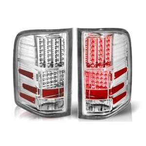 07 09 Chevy Silverado Led Tail Light   Chrome / Clear