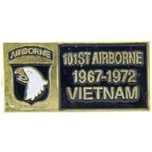 U.S. Army 101st Airborne Division Vietnam Pin 1 1/8 Arts