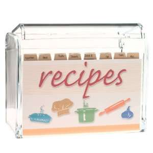 Clear Acrylic 3 x 5 Recipe Card Boxes