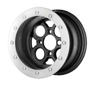 XD ATV XS222 12x7 Black Wheel / Rim 4x156 with a 25mm Offset and a 131