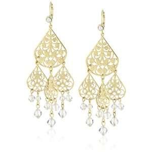 Liz Palacios Lunas Gold with Silver Shade Crystal Dangle