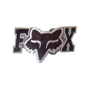 Black FOX RACING Logo Belt Buckle FOX letters y head