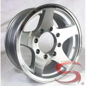 16x7 Aluminum Star Trailer Wheel 8 on 6.5 Bolt, 3,200