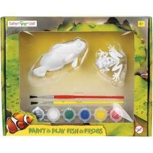 Safari 354540 Fish & Frogs Paint & Play Activity Set  Pack