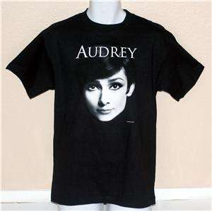 AUDREY HEPBURN Hollywood Actress Breakfast at Tiffany UNISEX Black T