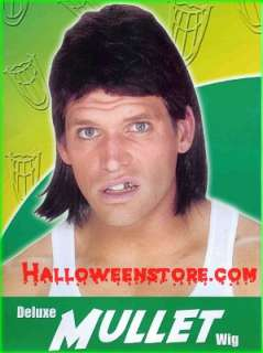Deluxe Mullet Wig Redneck White Trash Funny Hilarious