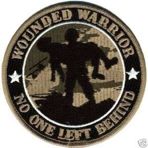 ARMY WOUNDED WARRIOR NO ONE LEFT BEHIND PATCH