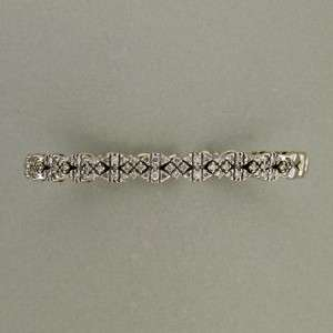 DESIGNER SONIA B HEAVY SOLID 14K WHITE GOLD 1.75CT ROUND DIAMOND FLEX