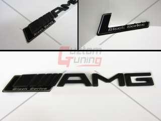 Mercedes Benz AMG Matt Letter Emblem + Black Series Badge C E S Class