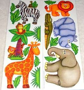 Kids Room Removable DIY Jumbo Wall Stickers Jungle Safari Zoo Animals