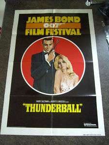 JAMES BOND FILM FESTIVAL 1975 THUNDERBALL US 1 SHEET