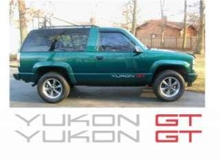 CHEVROLET CHEVY GMC YUKON GT DECAL STICKER DECALS 4X4 |