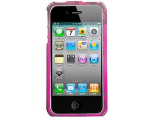 HOT PINK SILVER DIAMOND BLING CRYSTAL FACEPLATE CASE COVER APPLE
