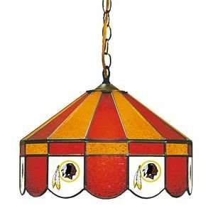Redskins NFL 16 Stained Glass Pub Lamp   18 4016