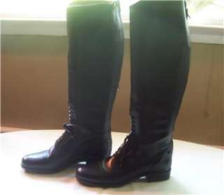 WOMENS ARIAT HERITAGE SELECT FIELD BOOT ZIP BLACK 9.5