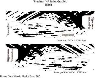 PREDATOR F 150 Stripes Decals 3M*Graphics 2010 2012 * Pro Grade Vinyl