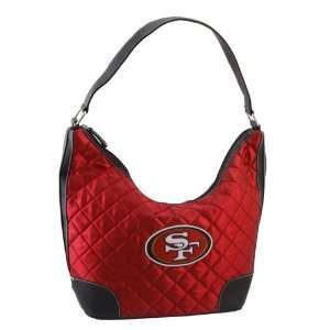 NFL San Francisco 49ers Team Color Quilted Hobo Sports