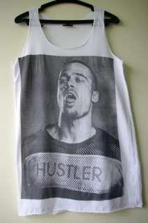 Brad Pitt HUSTLER Rock Movie Star Punk Tank T Shirt S