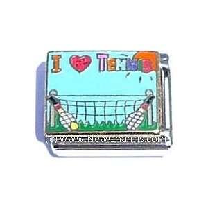 I Love Tennis Italian Charm Bracelet Jewelry Link Jewelry