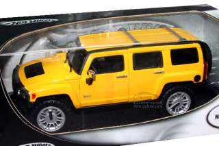 HOT WHEELS HUMMER H3 DIE CAST 1/18 YEL NEW