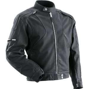 Z1R Marauder Mens Leather Motorcycle Jacket Black Automotive