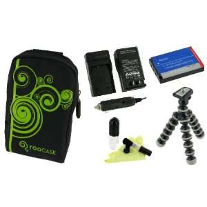 5n1 Fashion (Vine / Black) Nylon Padded Case / LI 50B 925mAh Li Ion
