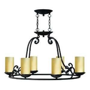 Hinkley Lighting 4055OL Olde Black Gold Hill Renaissance Six Light Up