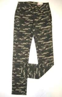 NWT Girls ARIZONA Green Camo Skinny JEANS Stretch Pants 10 12 14 Slim
