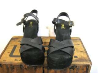 NATURAL COMFORT Womens Cute Black Suede Ankle Strap Wedge Sandals
