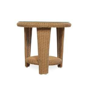 Flanders Natchez Wicker 24 Round Patio End Table Patio, Lawn & Garden