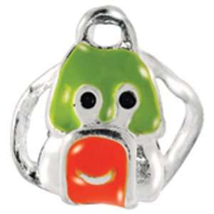 Avedon Kids Polished Sterling Silver Green And Red Enamel