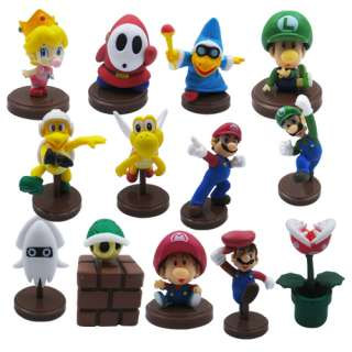 13x Official Super Mario Shy Guy Yoshi Figure Set #03