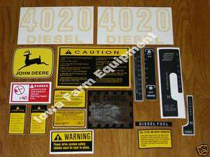 John Deere 4020 Decals Early Mdl Gas&Diesel Power Shift