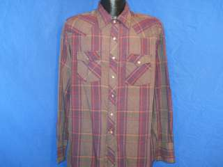 vintage YOUNGBLOODS WESTERN PEARL SNAP COWBOY PURPLE GREY PLAID SHIRT