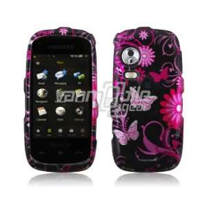 PINK FLOWER BFLY DESIGN CASE COVER + LCD Screen Protector for SAMSUNG