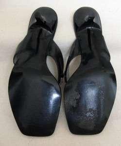 CARLOS SANTANA Black Strappy Sandal wRhinestones &kitten heels Sz 7.5