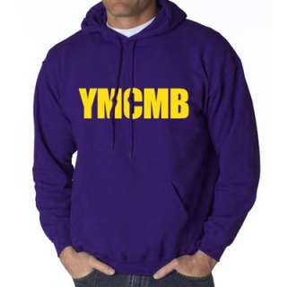 YMCMB HOODIE PURPLE HOODED SWEAT SHIRT YOUNG MONEY LIL WEEZY T WAYNE