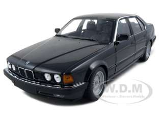 diecast car model of 1987 bmw 730i e32 7 series black die cast car