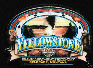 Yellowstone Harley Davidson Old Faithful Dealer Pin
