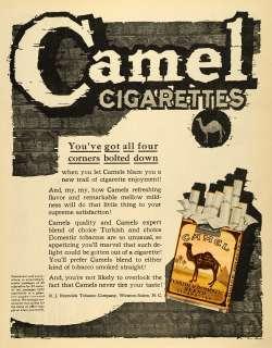 1920 Ad Rare Camel Turkish Cigarettes Pack Vintage R J Reynolds
