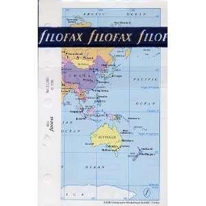 Filofax Papers World Political & Time Zones Mini Size   FF