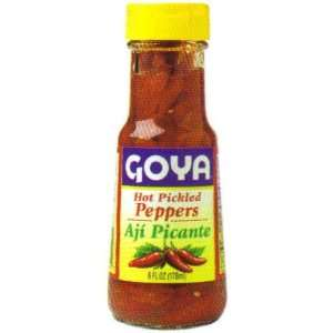 Goya Red Hot Pickled Peppers   Aji Picante 3 oz  Grocery