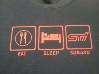 EAT SLEEP STI car logo auto T tee shirt Subaru Impreza WRX