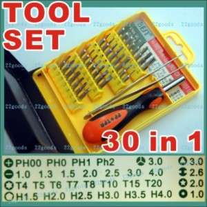 Screwdriver Tools Kit Set T3 T20 PH1 Y3  1 4 electronic