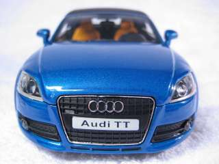 Audi TT blue Cararama Diecast Car Model 1:24 1/24