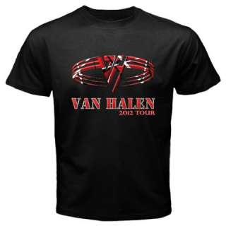 New VAN HALEN Tour 2012 Rock Metal Band Black Tshirt S 2XL