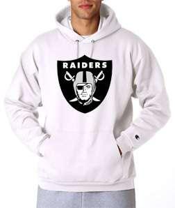 Oakland Raiders Logo Champion Hoodie Classic Sweatshirt Throwback New
