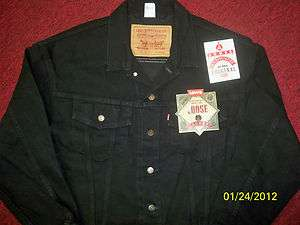 LEVIS BLACK DENIM JACKET   20 YRS OLD POSSIBLE VINTAGE   NWT   LOOSE