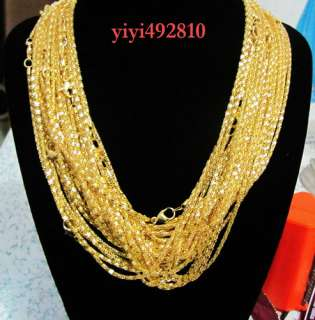 New 20pcs Gold Plated Snake Chain Necklace clasp 22 #k